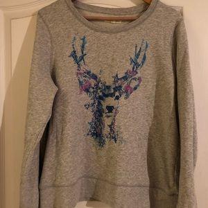 Aeropostale deer watercolor sweatshirt
